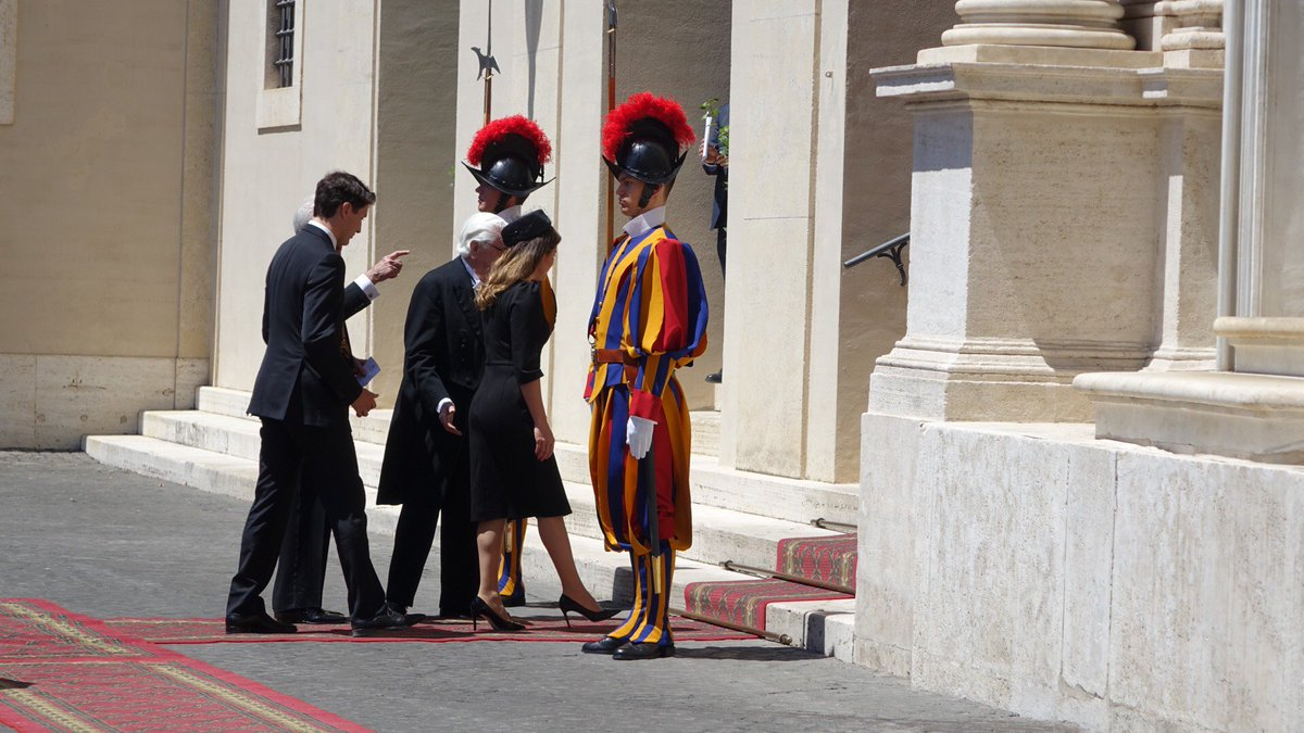 Canadian PM Justin Trudeau and his wife Sophie have arrived at the Vat...