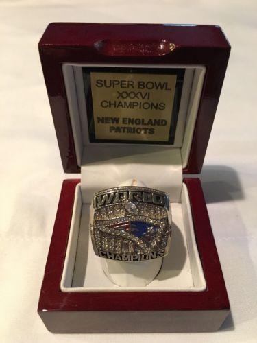 #NFL #Patriots 2001 New England #Patriots Replica Super Bowl Ring http...