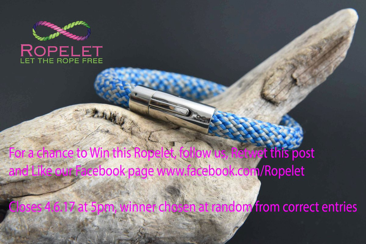 To #win this Ropelet, follow us, Retweet this post &amp; LIKE  http://www. facebook.com/Ropelet  &nbsp;   by 5pm 2.6.17.  http:// ropelet.co.uk  &nbsp;   #Competition <br>http://pic.twitter.com/ahIKXj0jBy