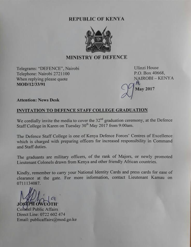 Kenya defence forces on twitter defence staff college holds its kenya defence forces on twitter defence staff college holds its 32nd graduation on tue30th may in karen nairobie students are from kenya other stopboris Choice Image