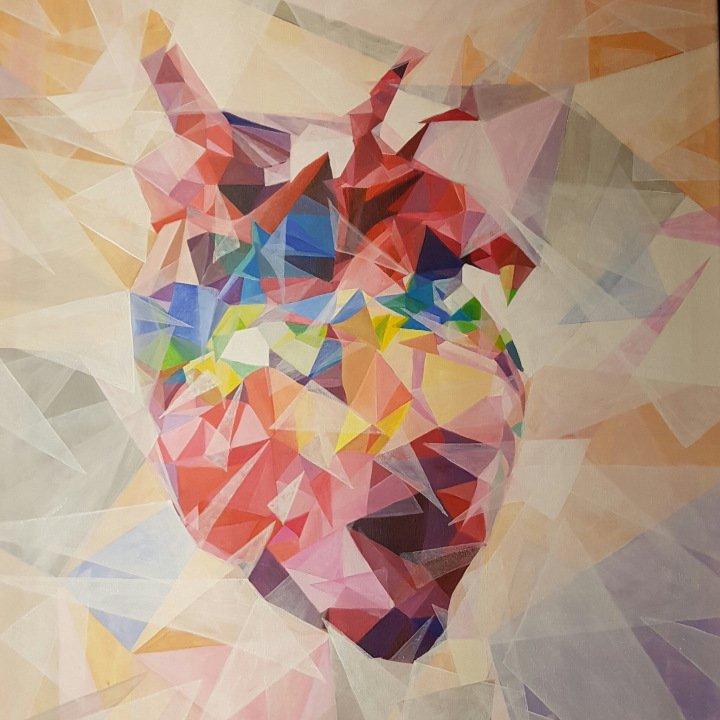 Acrylic #Heart – #Colorful #Art by Birgit Gunzer – Be ▲rtist – Be ▲rt Magazine  http:// crwd.fr/2qnz0Mg  &nbsp;  <br>http://pic.twitter.com/RodL8fjpdp