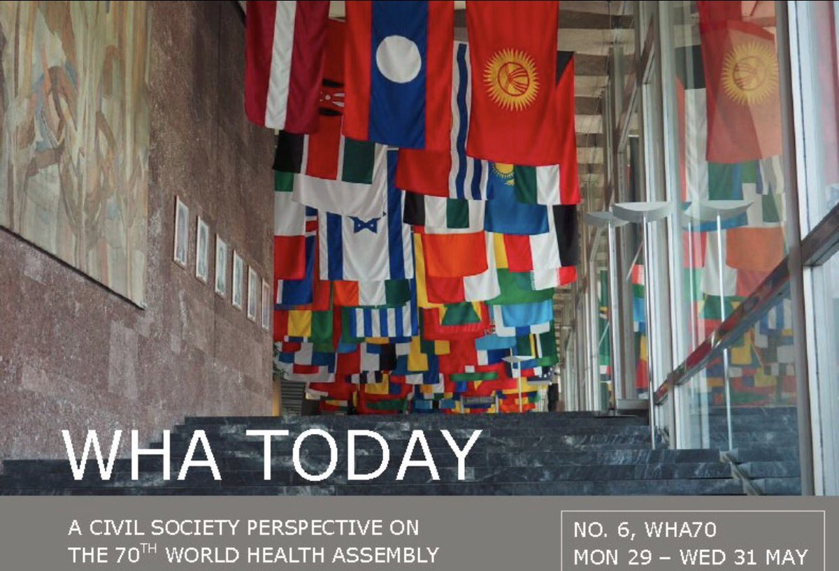 So what&#39;s happening at #WHAToday: here&#39;s a #civilsociety perspective on #WHA70  http:// g2h2.org/posts/wha-toda y/ &nbsp; …  #WHO #UN #goodread<br>http://pic.twitter.com/UnXvbzfWMt