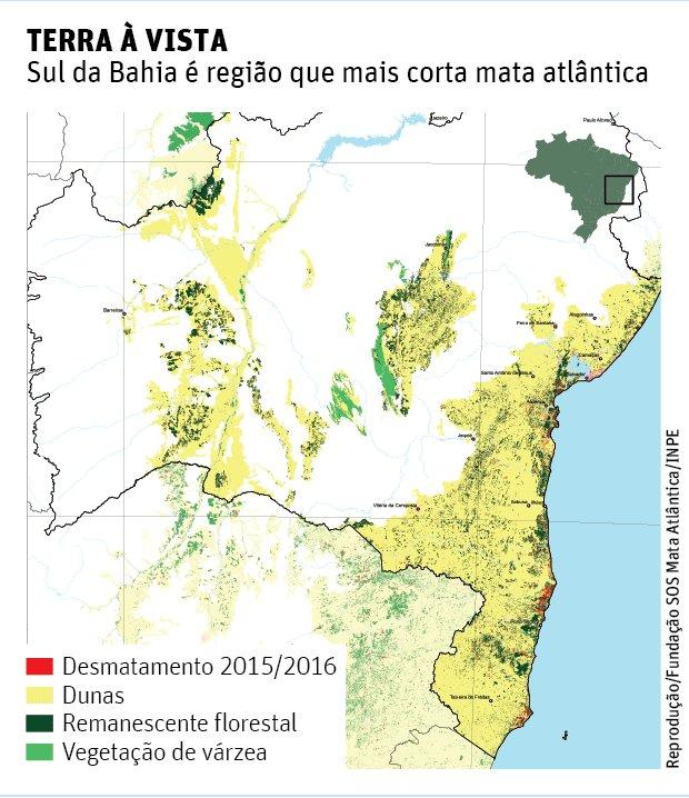 Região do Descobrimento é a campeã de desmatamento, mostra relatório https://t.co/uh03OXj23I