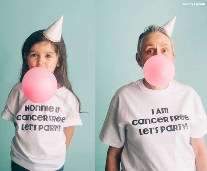 'I am cancer free. Let's party!' Grandmother celebrated in photo shoot after battling cancer. https://t.co/02cBL0ft3g
