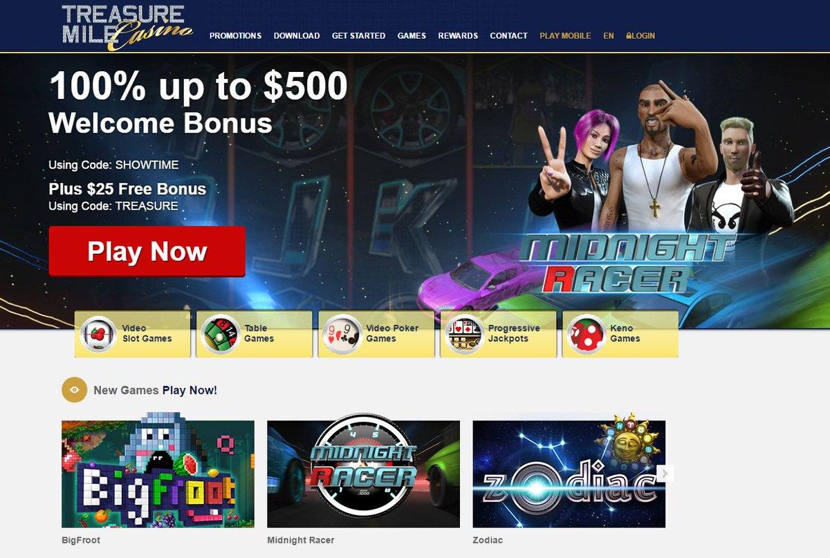 Treasure mile casino mobile