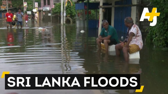 More than 160 people have died and half a million have been displaced by floods in Sri Lanka.