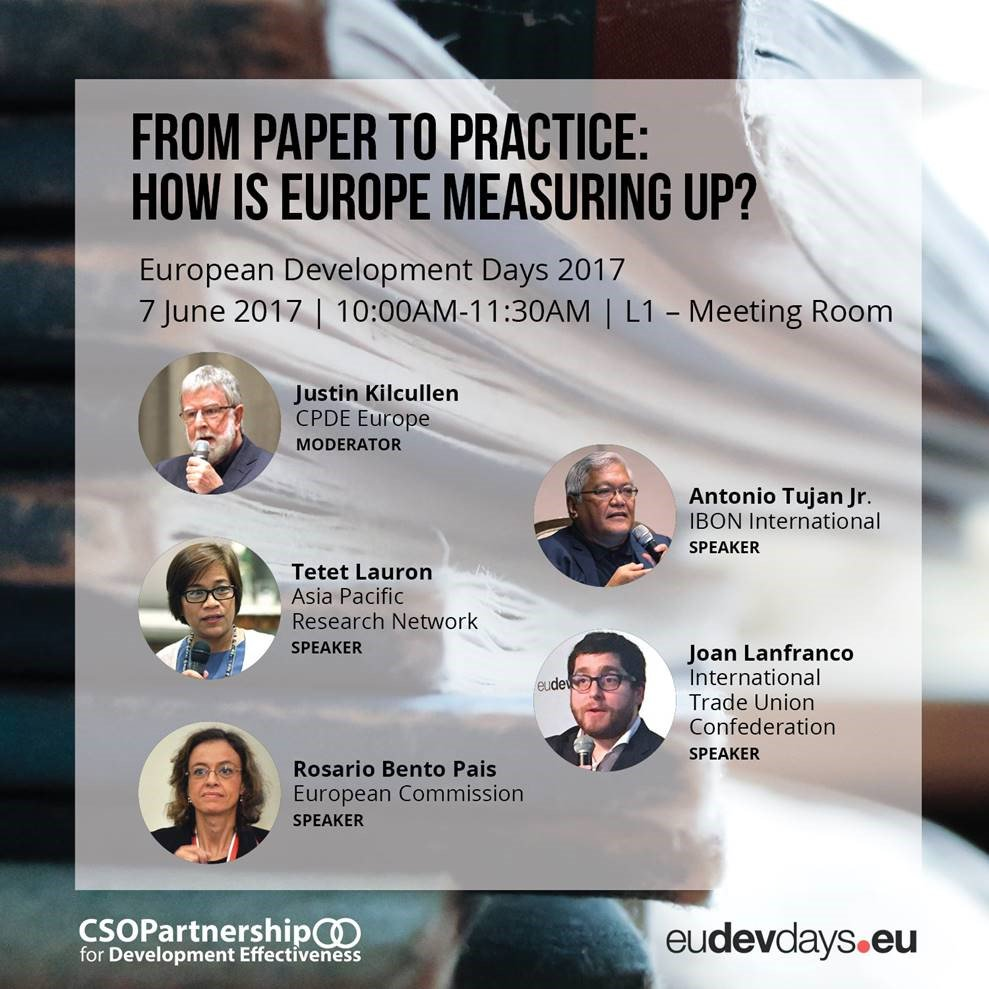We will be at #EDD17. Come see @jmlanfranco @ &#39;From Paper to Practice: How Is #Europe Measuring Up?&#39; #implementation #globaldev <br>http://pic.twitter.com/6XpLSvzrZj