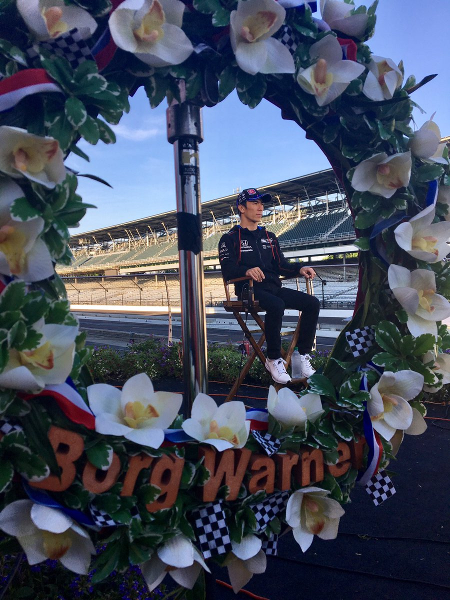 Good morning @IMS! No rest for the winner of the #Indy500 @TakumaSatoRacer ! #IndyCar https://t.co/qFZhoopFt7