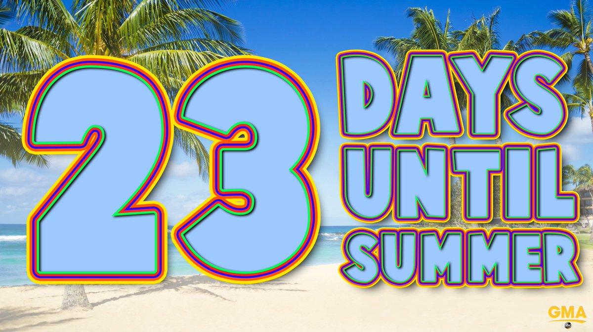 🏖 Only 23 days until Summer! ☀️