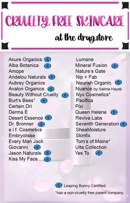 Cruelty Free Drugstore Skincare Brands