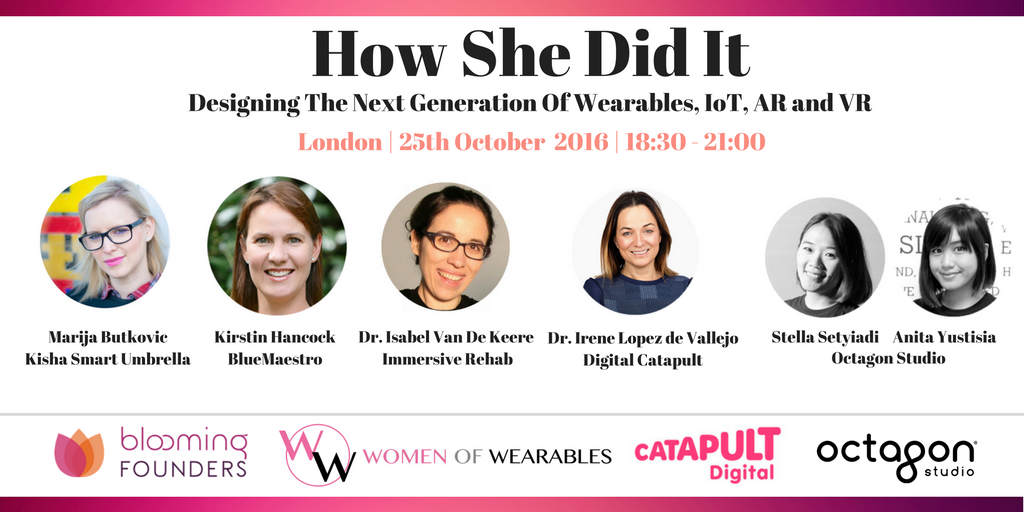 Wearables &amp; Amazing Female Founders! @Women_Wearables @bloomingfoundrs #Wearables  #FemaleFounders #WomenInTech <br>http://pic.twitter.com/4K4IFky2IR