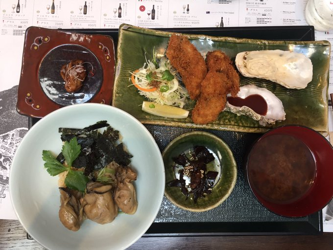 my all-oyster lunch at #Itsukushim, #Hiroshima. #Japan #foodie #travel #monday