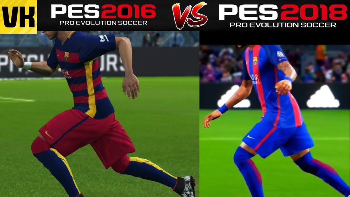 2 years makes a big difference in gaming!  https:// youtu.be/f_KKZCnbRSI  &nbsp;   #pes2017 #pes2018 #pes<br>http://pic.twitter.com/IHHbnpcDxK