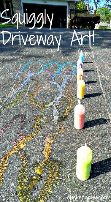 How To Make Homemade Sidewalk Chalk In A Bottle