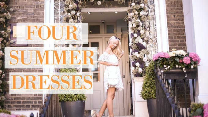 FOUR SUMMER DRESSES 🌼 What I Wore for #ChelseaInBloom 🌼 A Floral Lookbook