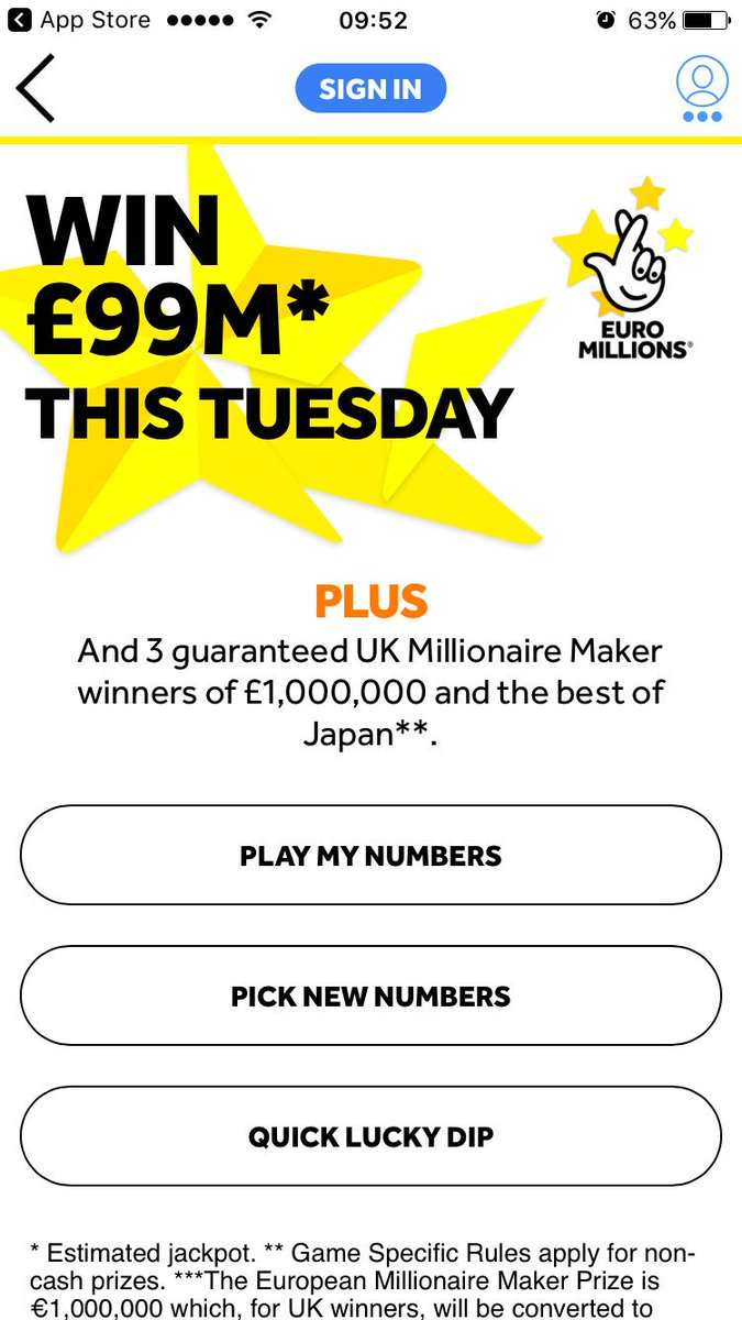 Have you got your euro million for this Tuesday? #Camelot #nationalteaday #Tuesday #£99Mpic.twitter.com/GqeWAlXMFV