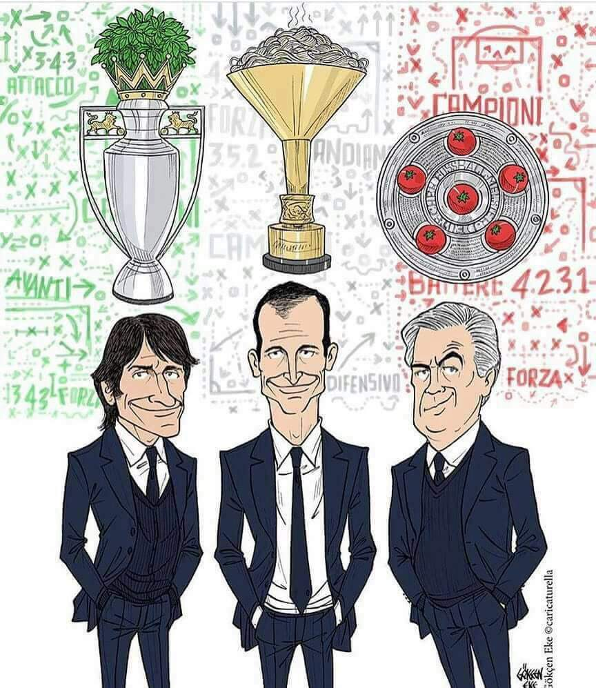 This is Made In Italy!  #AntonioConte #ChelseaFC #Premiership  #MaxAllegri #JuventusFC #SerieA  #CarloAncelotti #BayernM #Bundesliga pic.twitter.com/WWr4esMdMt