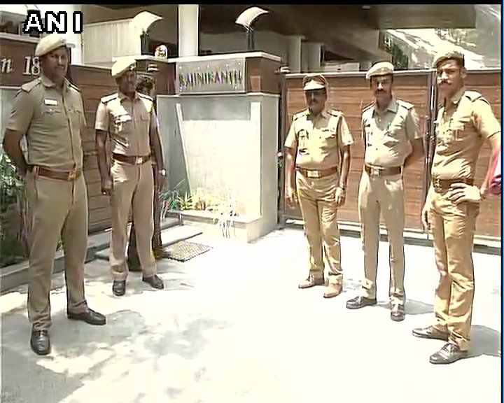 Security tightened at Rajinikanth's house after protests by…