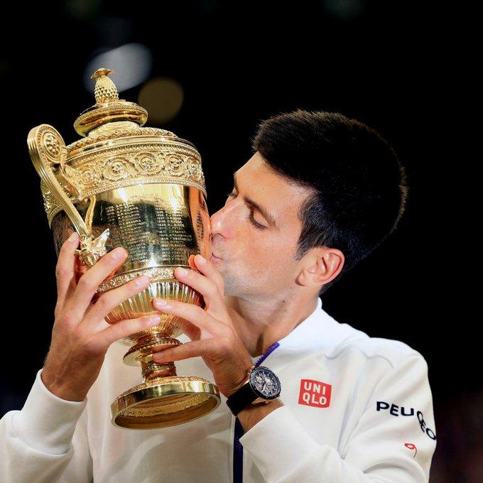 - Australian Opens: 6  - French Opens: 1  - Wimbledons: 3  - US Opens: 2  Happy birthday Novak Djokovic