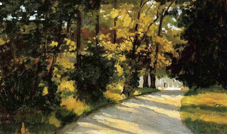 Гюстав Кайботт - «Йерр, дорожка через лес в парке» (1871-1878)