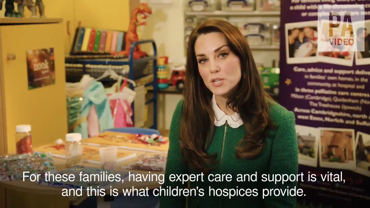 "The Duchess of Cambridge praises work of ""dedicated and inspirational"" staff and volunteers at children's hospices http://aol.it/2qLbHj0"