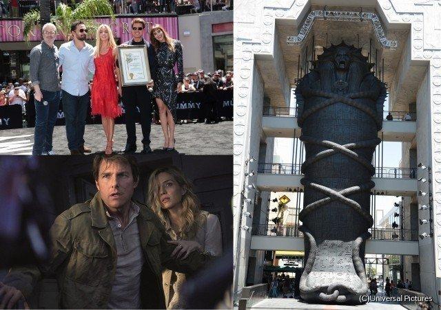 [映画ニュース] トム・クルーズ&ソフィア・ブテラ、「ザ・マミー」全長23mの巨大石棺に感激!