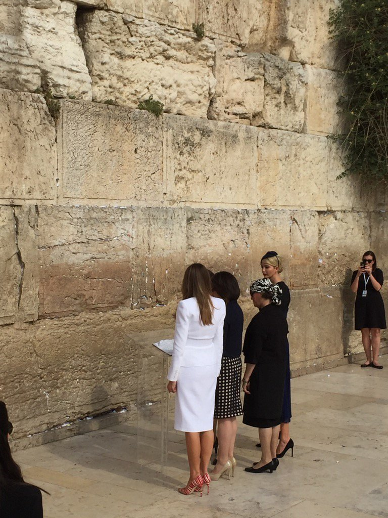 And FLOTUS and Ivanka on the women's side of the Western Wall