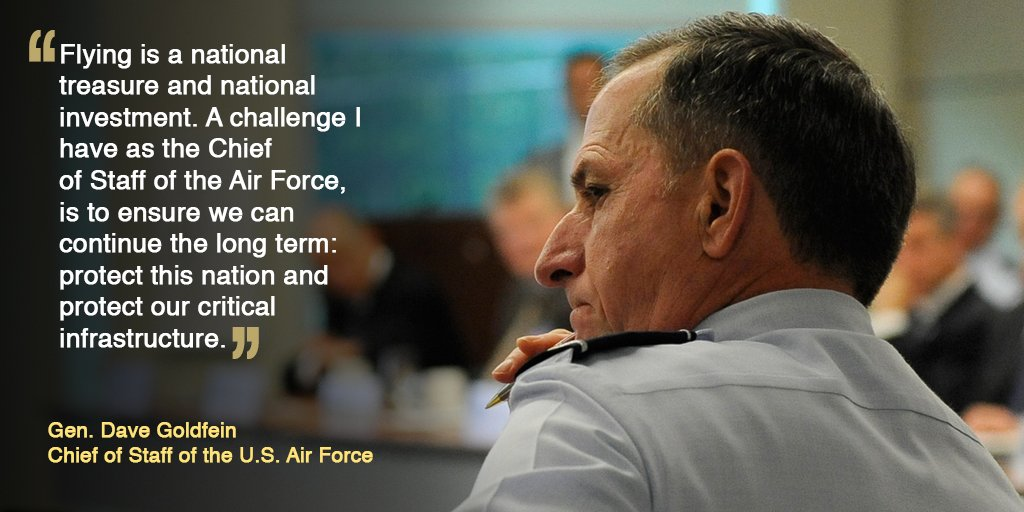 #ICYMI @GenDaveGoldfein met with airline executives to discuss the nat...
