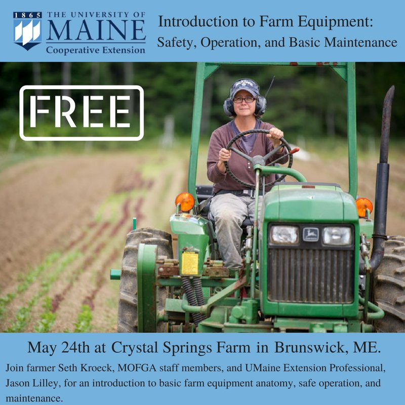 Umaineext cumberland on twitter intro to farm equipment safety umaineext cumberland on twitter intro to farm equipment safety operation basic maintenance collab with mofga httpstkhoi8eqq3v farmsafety sciox Image collections