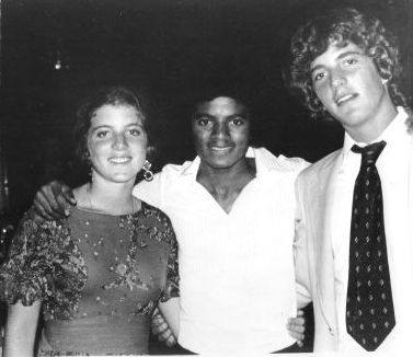 Michael Jackson with Caroline and John Kennedy Jr.
