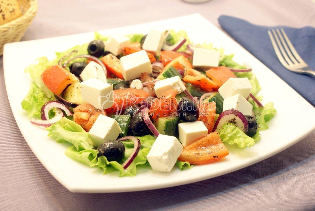 Как прготовить греческий салат фото