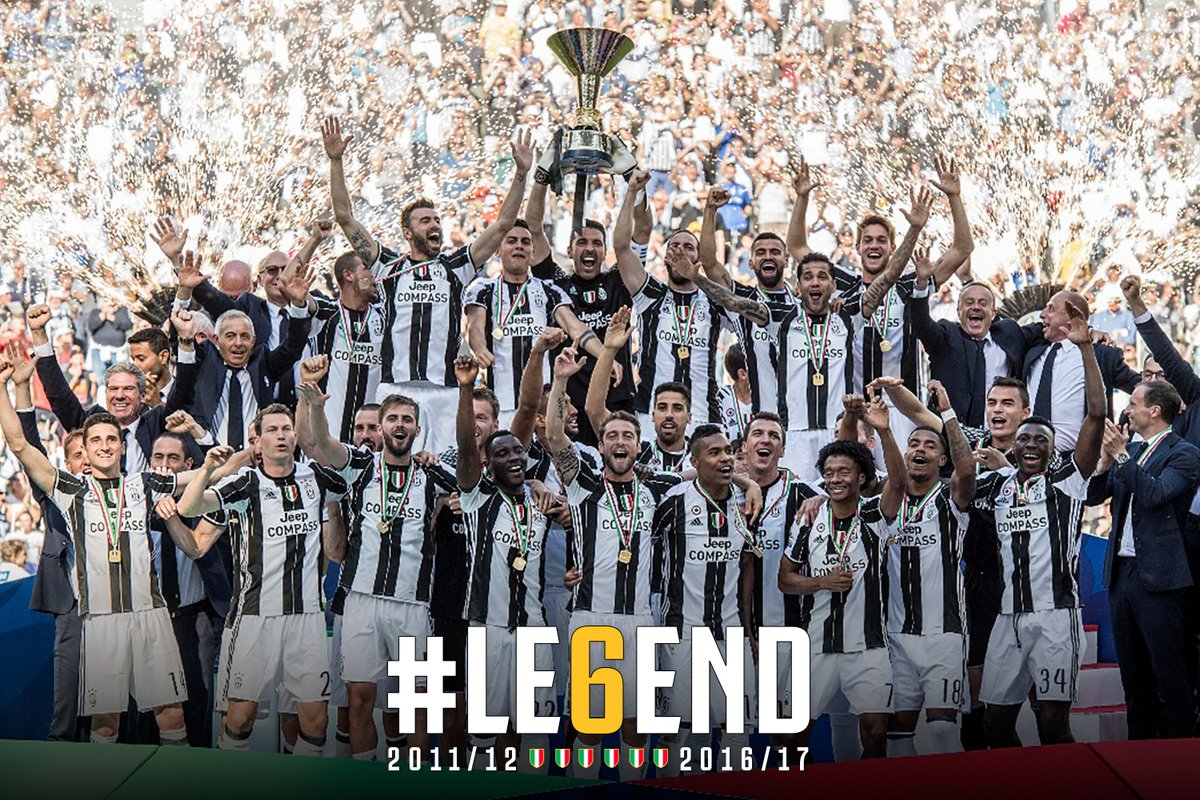 Congratulations to #juventusFC on winning six  Scudetto titles in a row.  Campeones! Campioni! Champions !  #LE6END #finoallafinepic.twitter.com/uLhMI1imP5