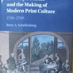 "Thanks to current Visiting Fellow Betty Schellenberg for donating her book ""Literary Coteries and the Making of Modern Print Culture"" to CHL"