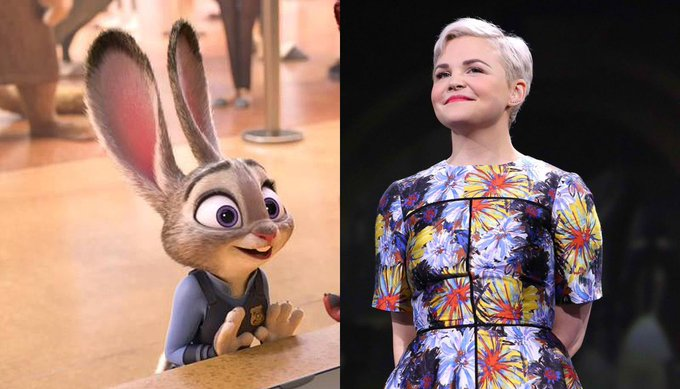 Happy 39th Birthday to Ginnifer Goodwin! The voice of Judy Hopps in Zootopia.