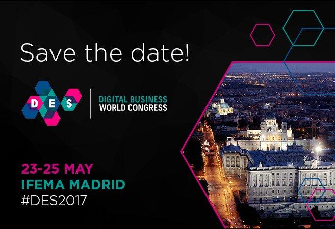 Madrid celebra Digital Business World Congress @DES_show. Del 23 al 25 de mayo en @feriademadrid https://t.co/Z14MNCMTaj