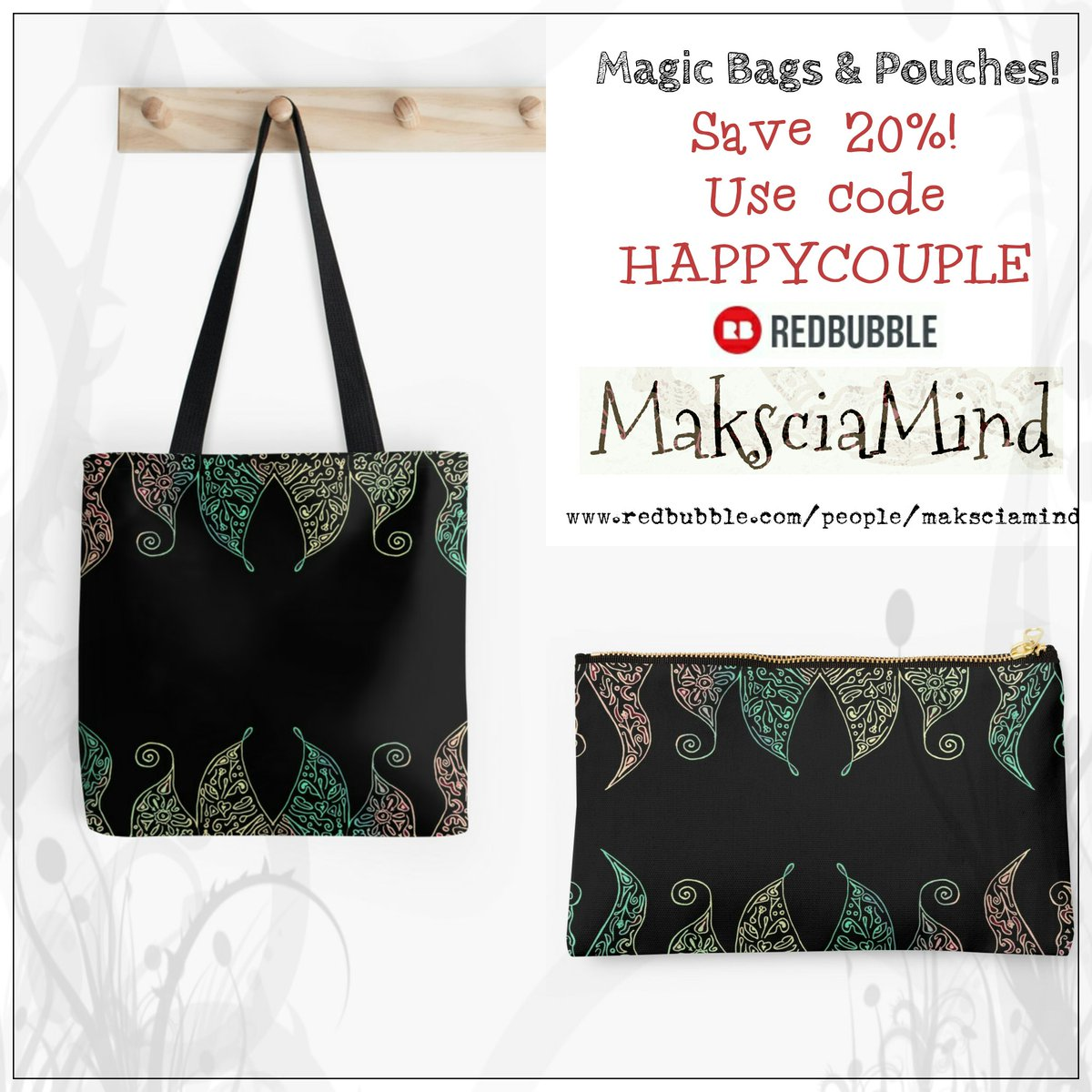 Magic Bags &amp; Pouches - Save 20% Today on my @redbubble Store!   https://www. redbubble.com/people/makscia mind/works/22646605-magic-herb?asc=u&amp;p=tote-bag&amp;rel=carousel &nbsp; …   #design #accessories #clutch #borse #multicolored<br>http://pic.twitter.com/SSjKdjveDX