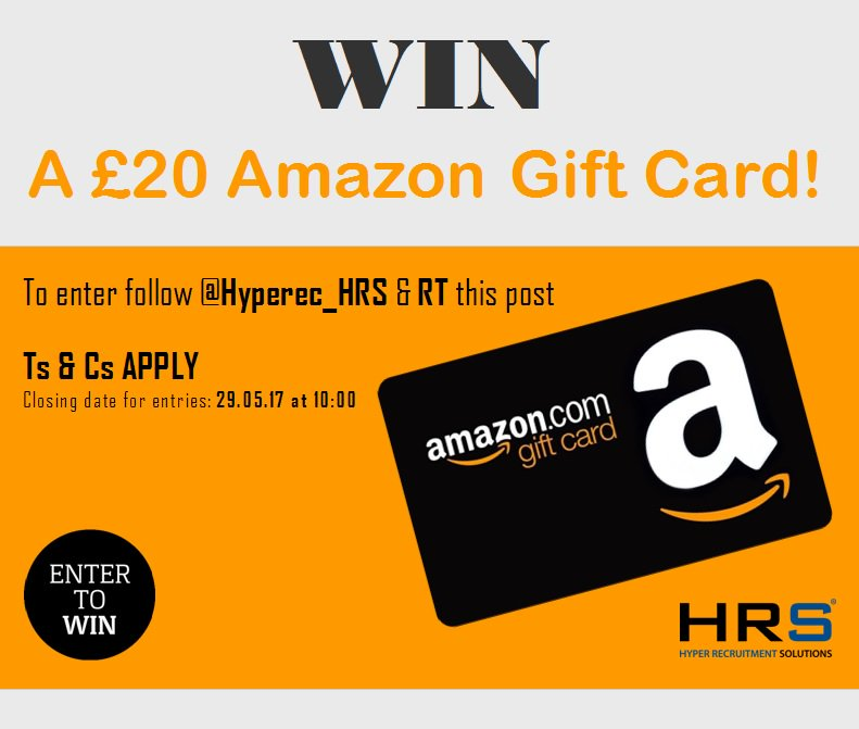 #Competition #giveaway #WIN a £20 Amazon gift card! To be in with a chance, simply F+RT @Hyperec_HRS #shopping https://t.co/wftlpMtqh7