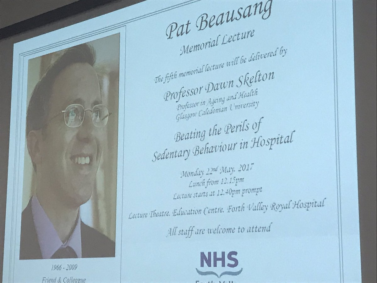 test Twitter Media - Proud to be delivering the Pat Beausang Memorial Lecture at Forth Valley today @GeriSoc @YoungGeris https://t.co/qiFVFJc3gH
