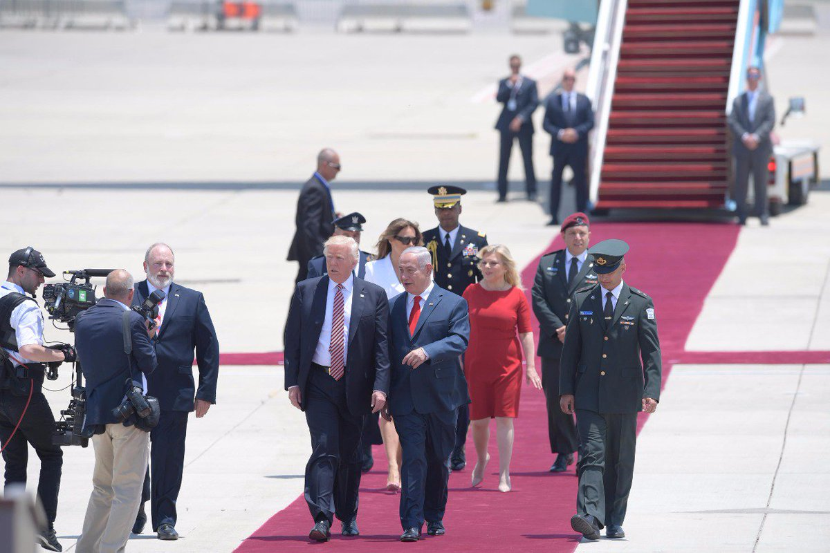 Never before has the first foreign trip of a president of the United States included a visit to Israel. Thank you, @POTUS.