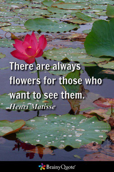 There are always flowers for those who want to see them. - Henri Matisse #CelebrateMonday  https://t.co/p5cejextY9 https://t.co/38rV3aPJmC
