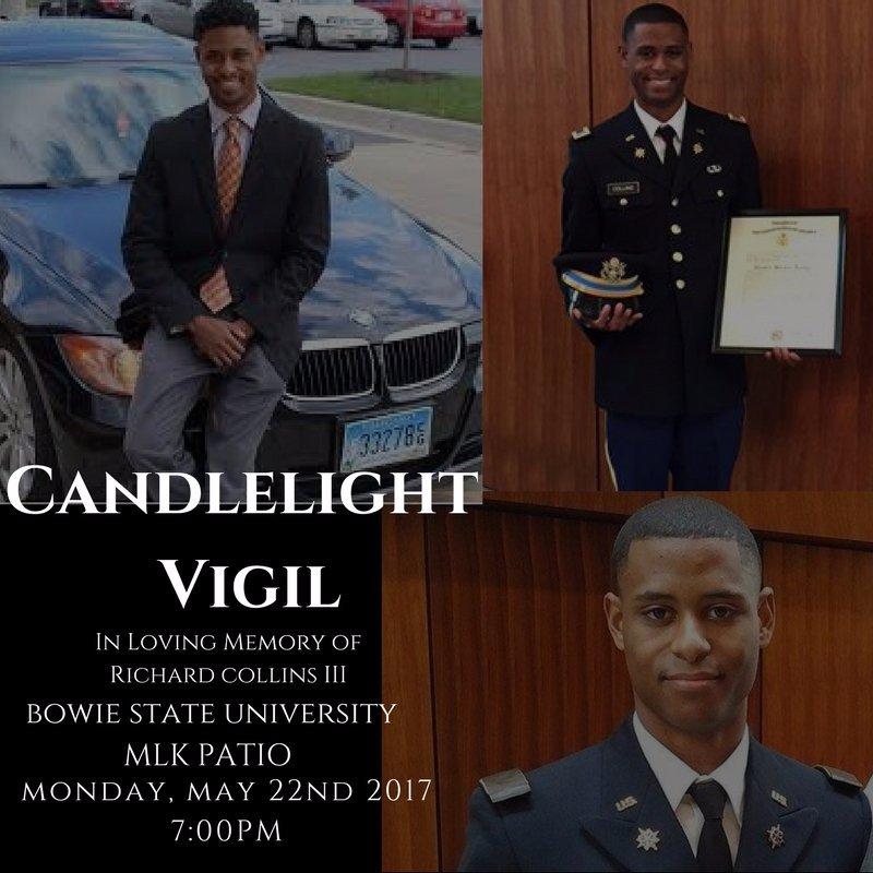 Today the Bowie State community will honor #RichardCollins during a candlelight vigil starting at 7pm. https://t.co/UaEUASm4nS