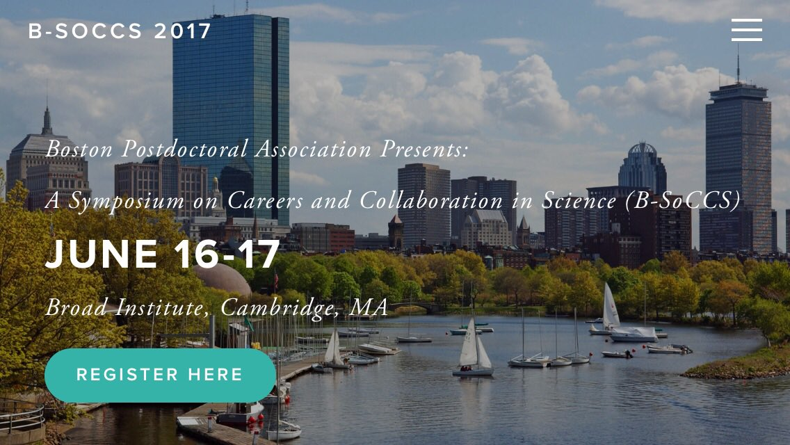 Thank you to our new sponsors @MIT &amp; @PerkinElmer. #Boston #Postdocs, attend to meet Top #Academia &amp; #Biotech reps:  https://www. bsoccs2017.org/sponsors/  &nbsp;  <br>http://pic.twitter.com/axWgfeE4S4 &ndash; à Broad Institute