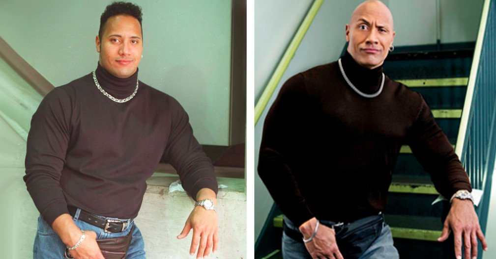 People are living for the Rock's recreation of his iconic fanny pack photo bzfd.it/2rKyOYw