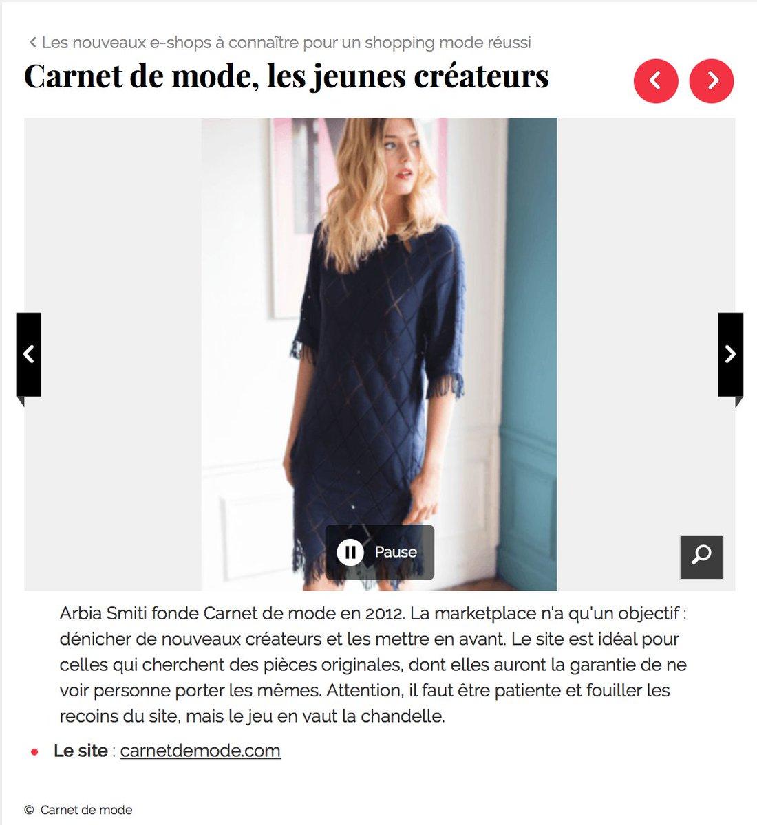 @Carnetdemode est dans la sélection des e-shops de @femmeactuelle 😍 https://t.co/leOdtBNXsg https://t.co/LnB05acw2z