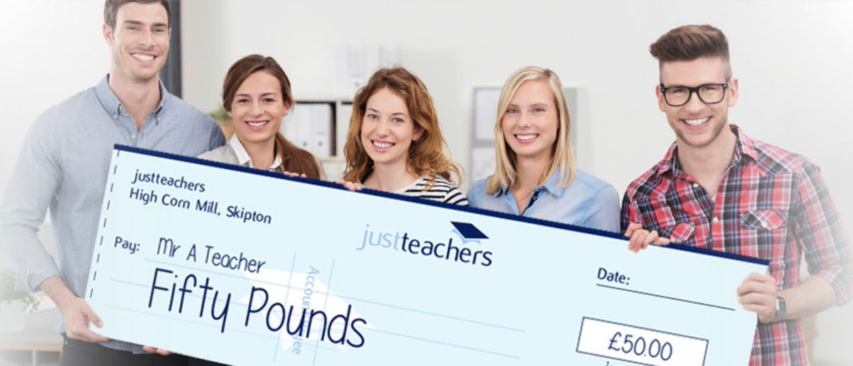 test Twitter Media - Easily earn £50 for recommending a #teacher, cover supervisor or TA to register with justteachers. Find out more https://t.co/NqwBwj7Fgx https://t.co/KEkWCVVeNb