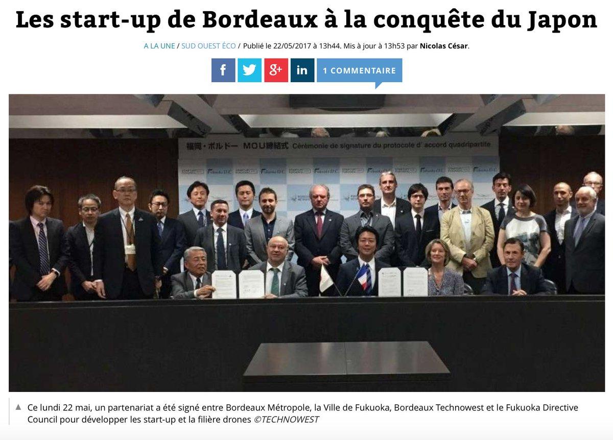 Les #startup de @BxMetro à la conquête du Japon Via @SO_Bordeaux https://t.co/3O7LYLYJML