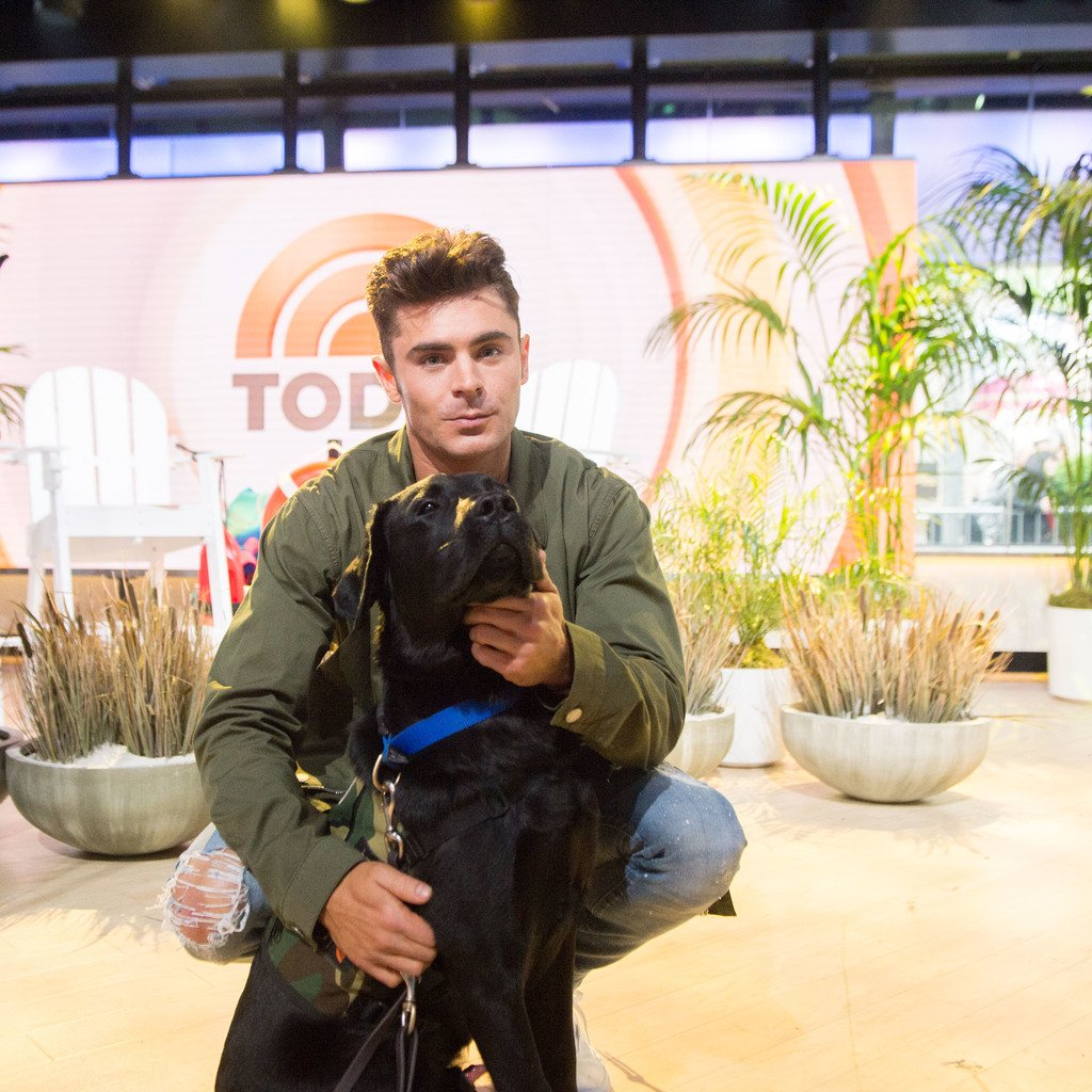 Being recruited for the next @baywatchmovie by @ZacEfron! #TODAYPuppy