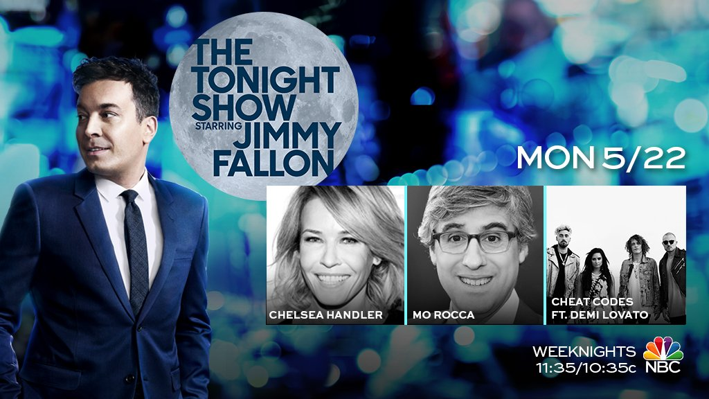 Tonight on the show: @chelseahandler, @MoRocca & music from @Cheat...