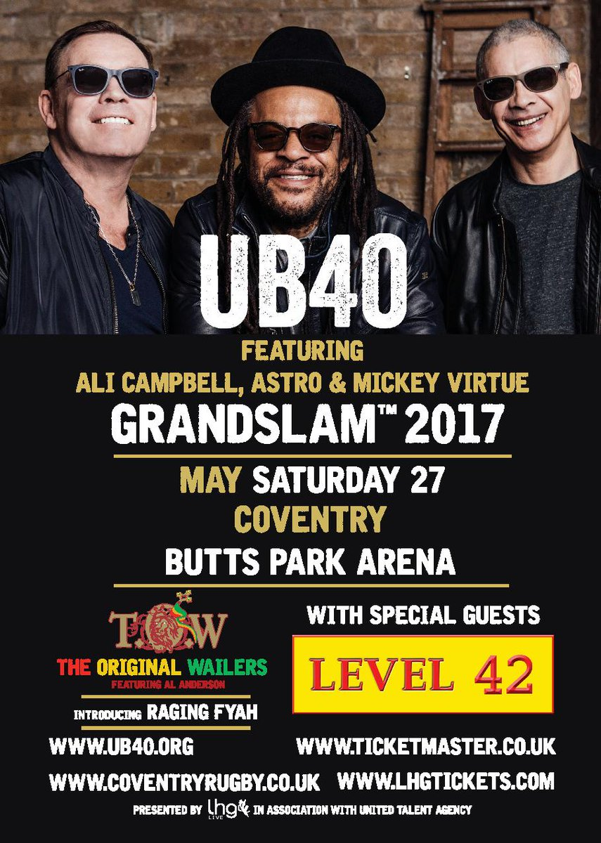 RT - VITAL INFO FOR SATURDAY@WeAreUB40 @markking @Ragingfyah @Al_Anderson_TOW  http:// bit.ly/2rKxCEt  &nbsp;   #grandslam #directions #parking #info <br>http://pic.twitter.com/ZaRGjvr5p7