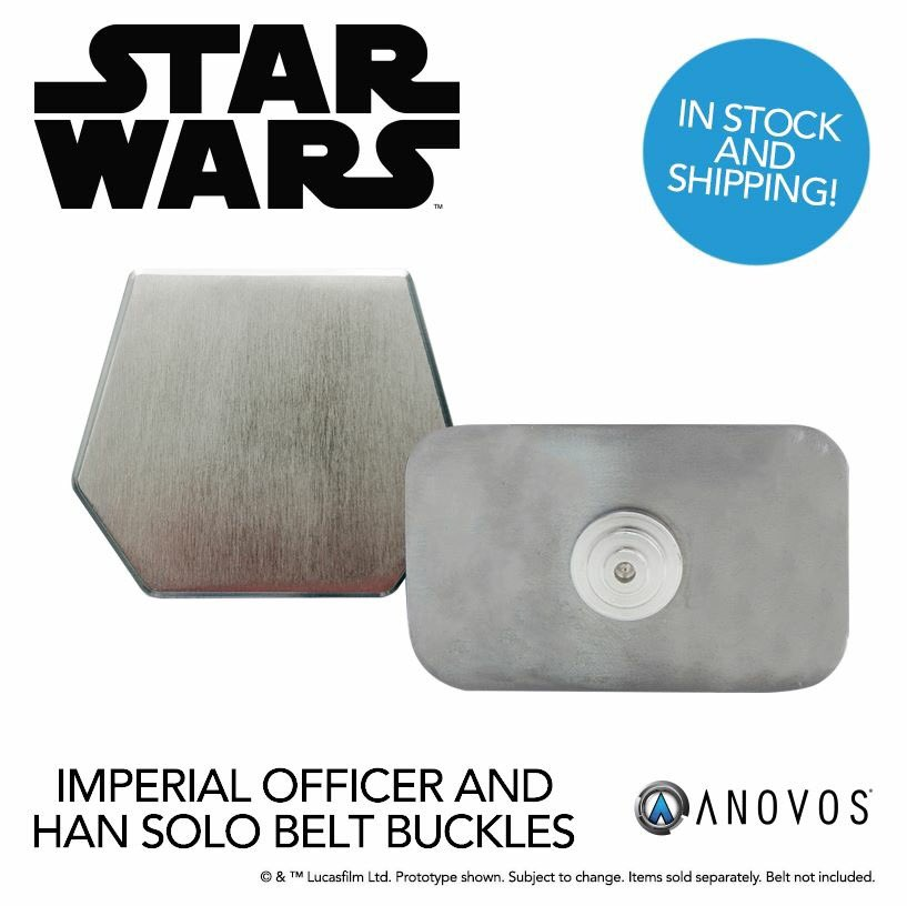 Our Han Solo and Imperial Officer belt buckles are now in stock in limited quantities:  http:// bit.ly/2qP2RyW  &nbsp;   #HanSolo #StarWars #ANOVOS <br>http://pic.twitter.com/Ho9VJoDuxe